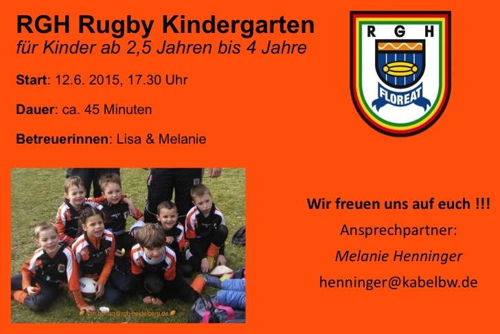 Start des RGH Rugby Kindergartens